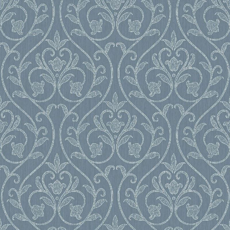 KP60102 Fiona Damask, Blue by Questex Commercial W