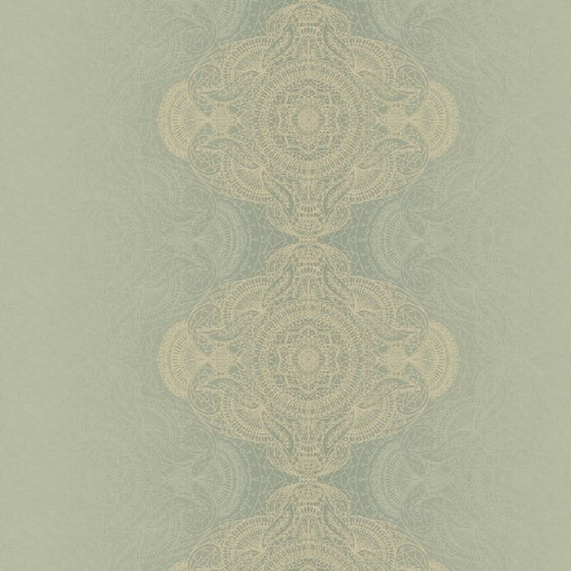 KP10104 Bettina Damask, Green by Questex Commercia