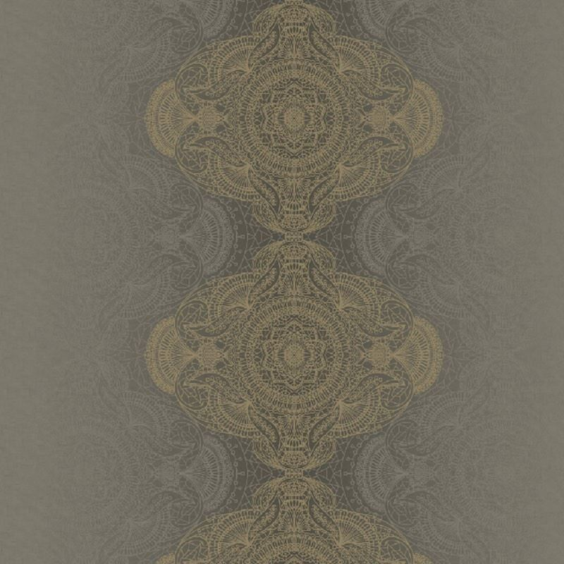 KP10108 Bettina Damask, Brown by Questex Commercia